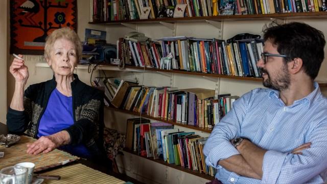 Hebe Uhart y Patricio Zunini Foto: Martín Rosenzveig)