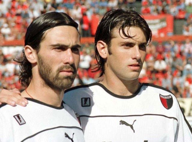En Colón junto a Juan Manuel Herbella, otra amistad entrañable que le dejó el fútbol