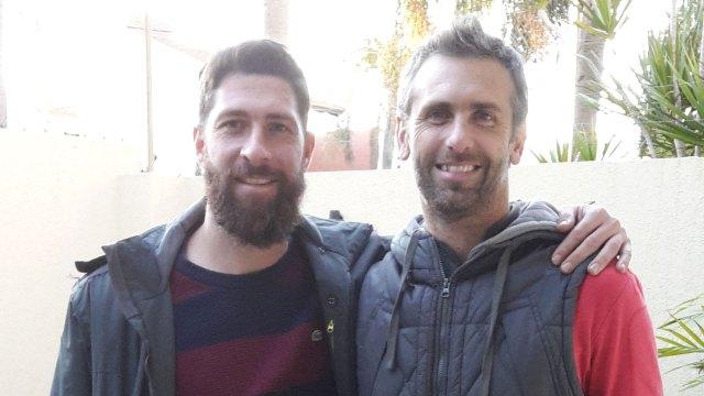 Con Ignacio Bogino, su gran amigo y socio