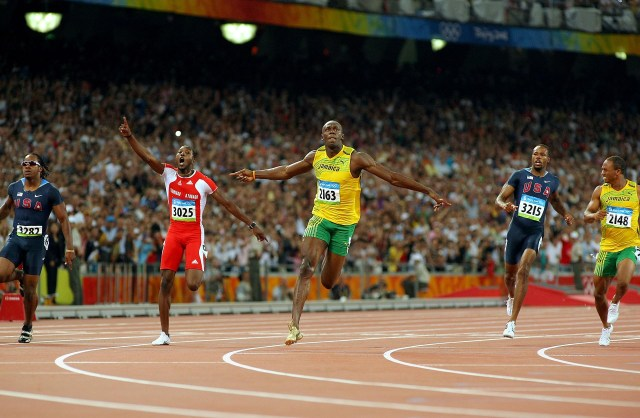 Usain Bolt saltó a la fama en los Juegos Olímpicos de Beijing 2008 (Getty Images)