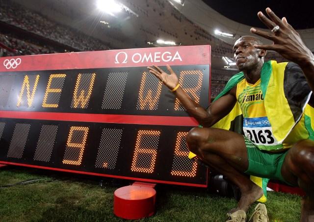 Bolt ganó la medalla de oro de los 100 metros y estableción un nuevo récord mundial de9,69 segundos (Getty Images)