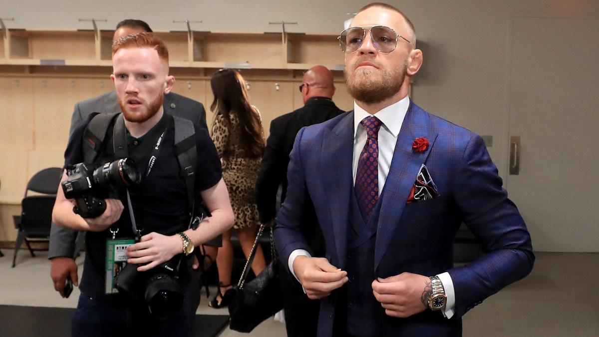 La presencia del combatiente irlandés en el vestuario del T-Mobile