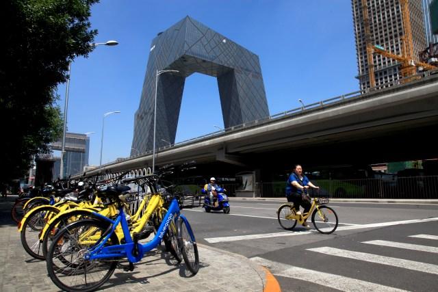 La compañía Ofo ha impulsado el sistema de bicicletas compartidas en muchas ciudades de China y quiere llevar su modelo de negocio a otros lugares del mundo (Shirley Feng / The Washington Post)