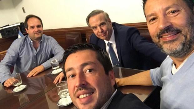 Maggiotti, Nardini y Menéndez, en el despacho de Miguel Ángel Pichetto