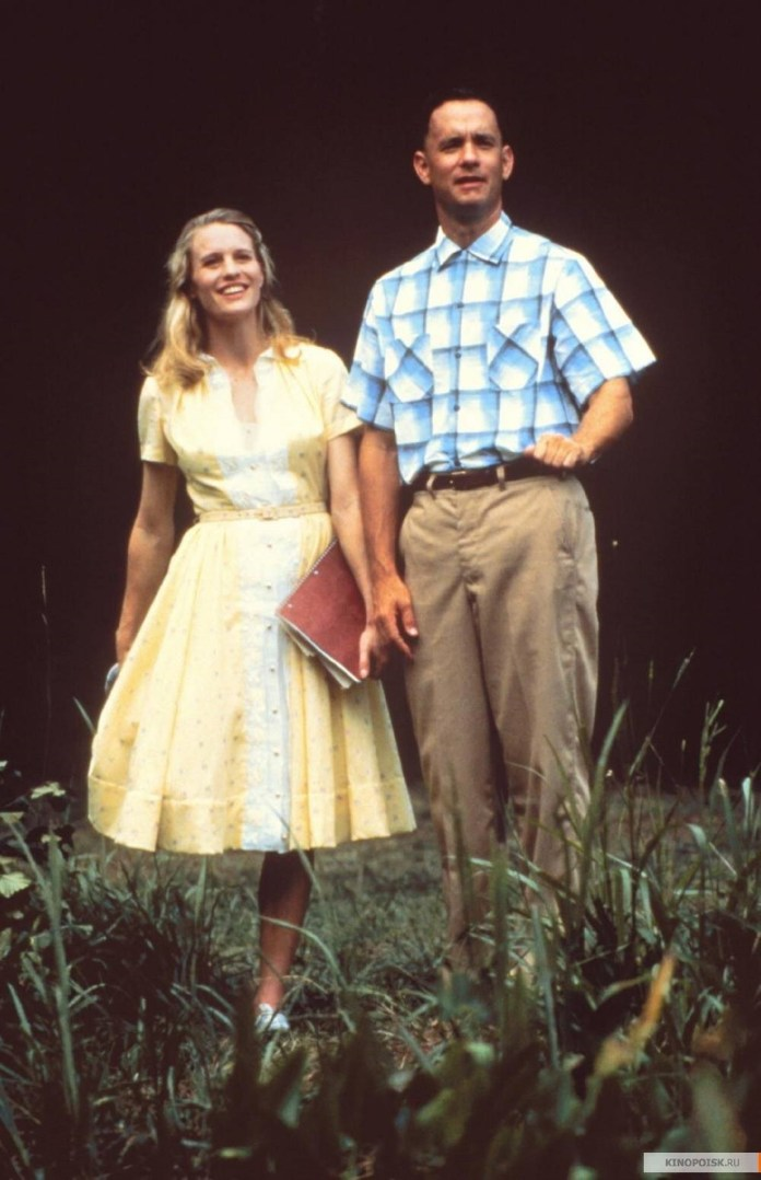 Robin Wright y Tom Hanks en Forrest Gump