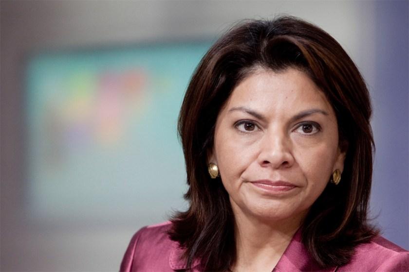 La ex presidente de Costa Rica, Laura Chinchilla, encabezó la misión electoral en Brasil
