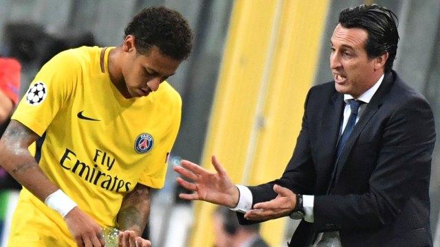 Sostienen que Neymar se aburre en las charlas de su entrenador, Unai Emery (AP)