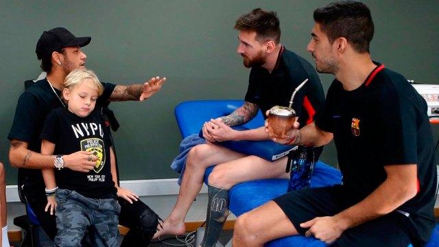 La reunión de Neymar con Messi y Suárez