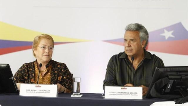 Michelle Bachelet y Lenín Moreno (EFE)