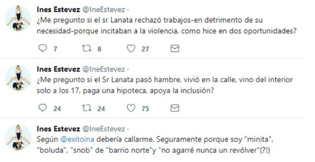 La respuesta de Inés Estévez a Jorge Lanata