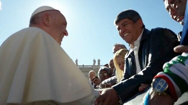 Pablo Moyano visitó al Papa la semana pasada