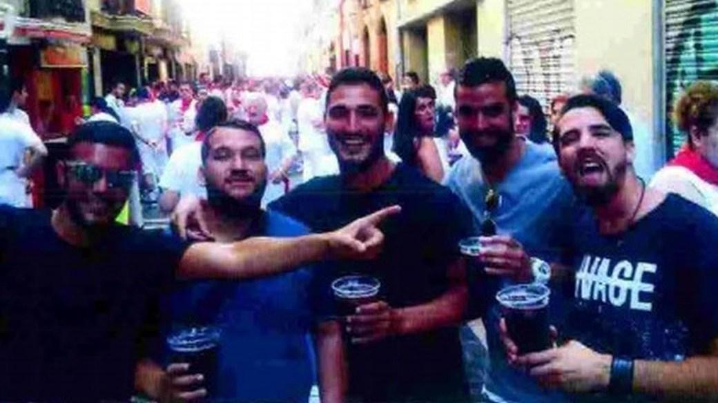 Los cinco hombres que violaron a la joven en julio de 2016
