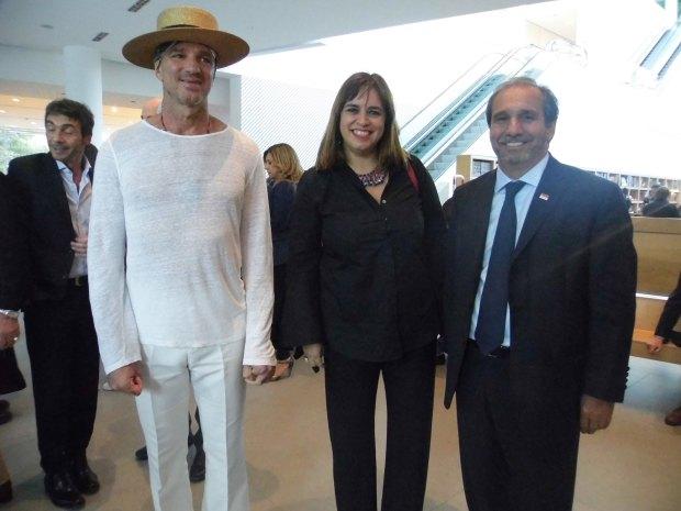 Alan Faena, Adriana Balaguer y Nicolás Caputo