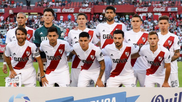 Gonzalo Montiel, Alexander Barboza y Marcelo Saracchi, titulares ante Newell´s (Getty Images)