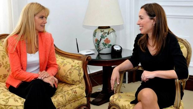 La intendenta de La Matanza y la gobernadora María Eugenia Vidal (NA)