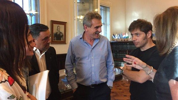 Los ex ministros kirchneristas Axel Kicillof y Agustín Rossi