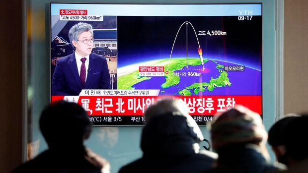 La televisión surcoreana muestra cómo fue el lanzamiento del misil intercontinental con capacidad nuclear de la dictadura de Kim Jong Un (Reuters)