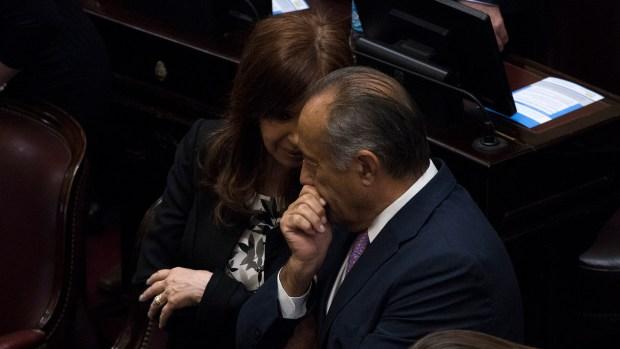 Cristina Kirchner y Adolfo Rodríguez Saá