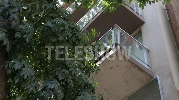 El balcón desde el cual se arrojó Rocío