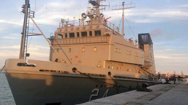 El buque Islas Malvinas