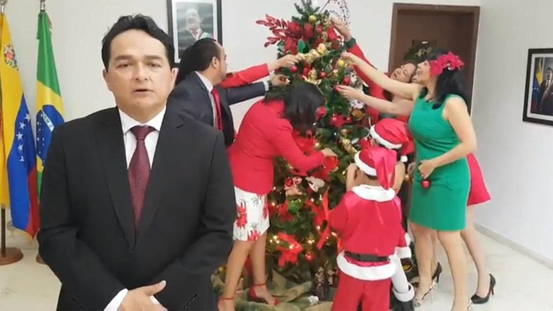 Gerardo Delgado, en la embajada de Venezuela en Brasil
