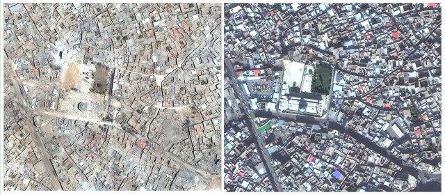 Mosul, arrasada tras el paso del ISIS y cómo se veía antes de la guerra (AP)