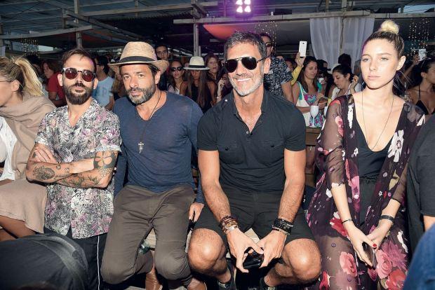 Front Row: Nacho Lecouna, Hernán Lautaro, Leo Mateu y Sol Pryngier. Fotos: Ale Carra/GENTE y Enjoy Punta del Este.