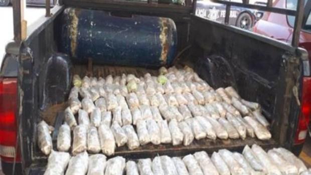 Nueve armas largas y una corta que estaban escondidas dentro de un tanque de gas fueron decomisadas por la policía federal en el estado de Guerrero