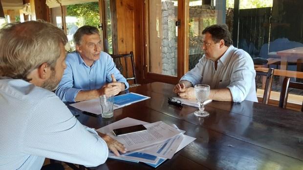 Mauricio Macri, Rogelio Frigerio y Alberto Weretilneck