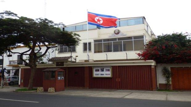 La embajada de Corea del Norte en Lima