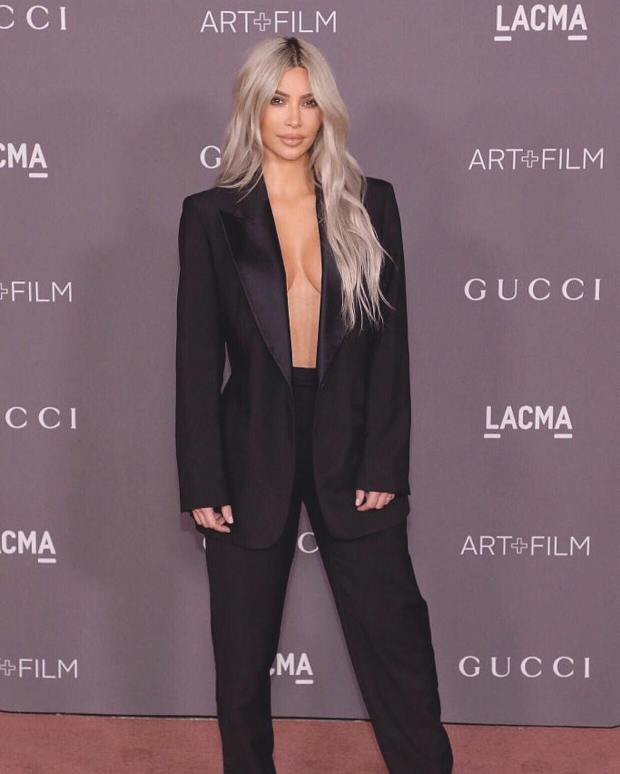 Kim Kardashian en un evento en L.A. durante 2017.