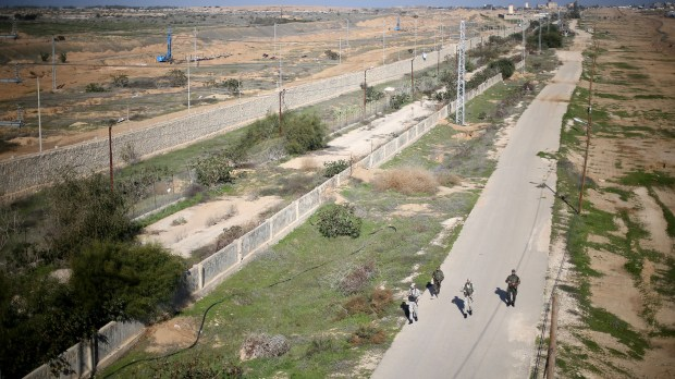 La frontera del sur de la Franja de Gaza (REUTERS/Ibraheem Abu Mustafa)