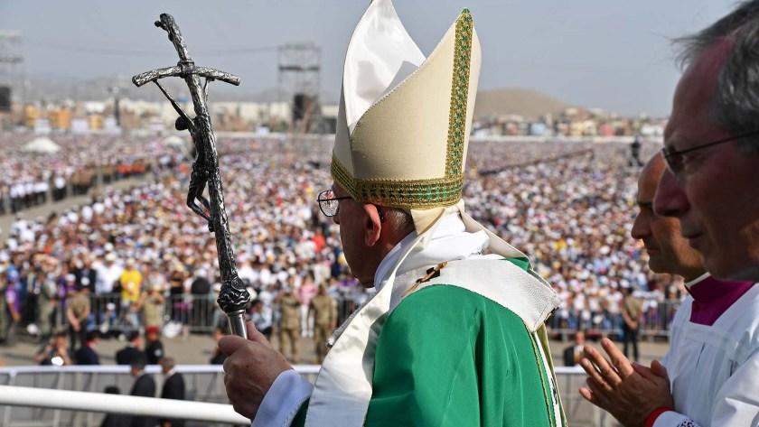 Francisco ofreció una misa para más de un millón de fieles (AFP)