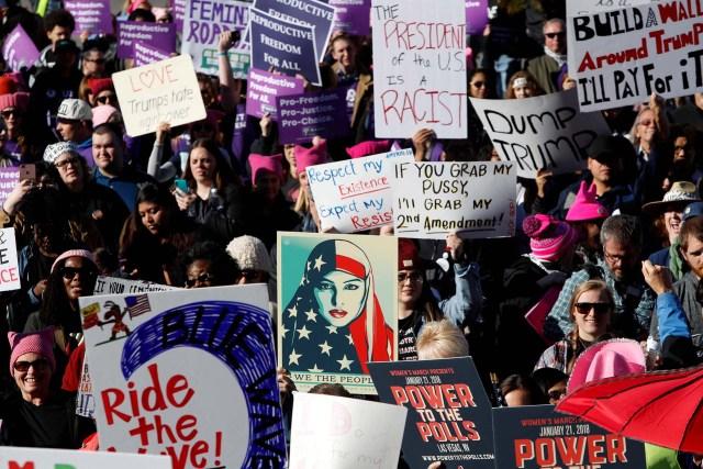 Las mujeres llenaron el estadio Sam Boyd de Las Vegas(REUTERS)