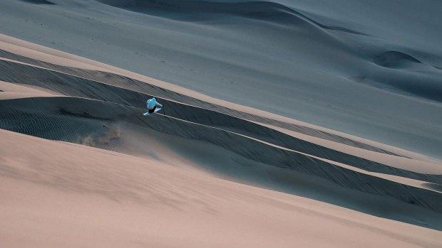 Una de las postales que dejó la travesía al desierto.