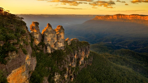 El parque nacional de Blue Mountains se encuentra al oeste de Sídney, en la región de New South Wales (Getty)