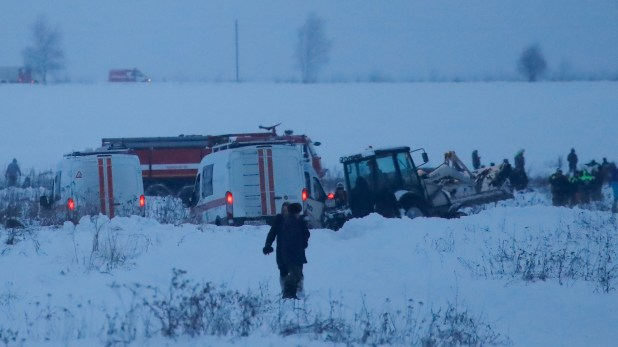 Rusia sufre una seguidilla de accidentes aéreos. El Antonov An-148 que cayó en Moscú (Reuters)