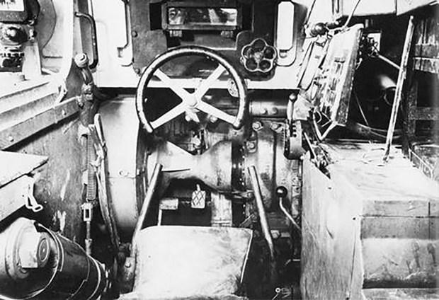 Bloque de vidrio blindado visto desde la posición del conductor