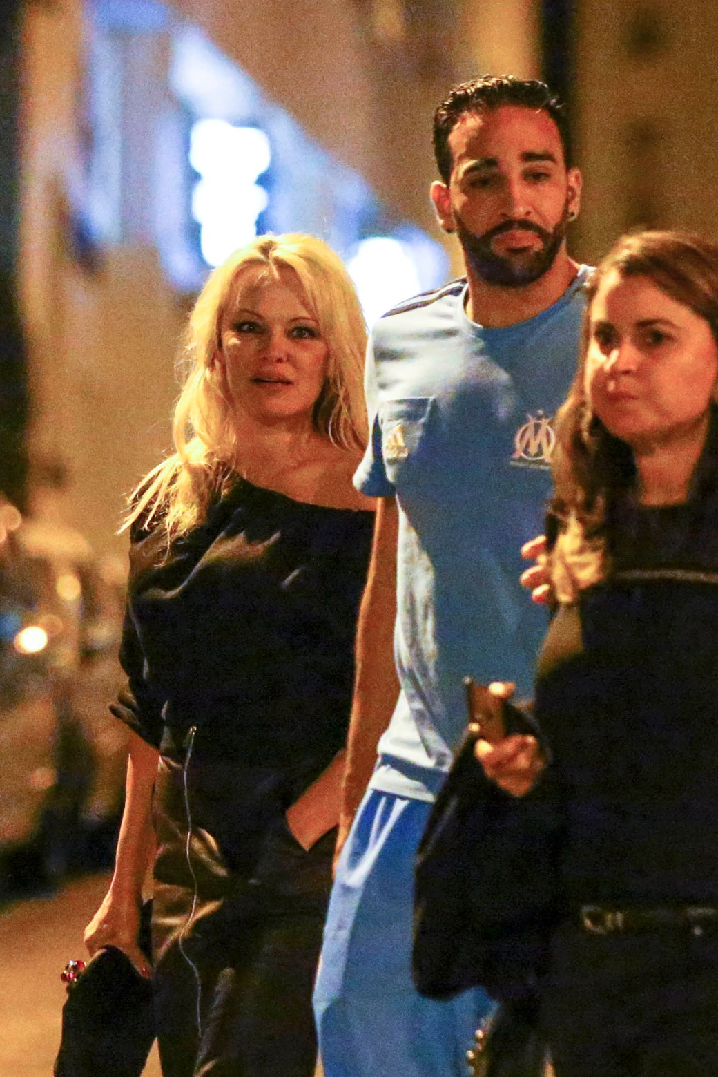 Pamela Anderson y Adil Rami (The Grosby Group)