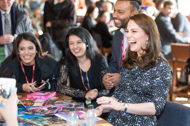 La duquesa deCambridge durante un visita al centro de artes en Sunderland(AFP )