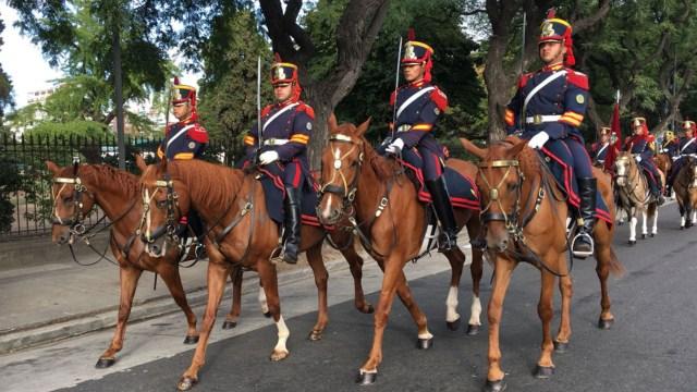 En la actualidad, los Granaderos a Caballo participan como parte de la guardia presidencial en actos oficiales
