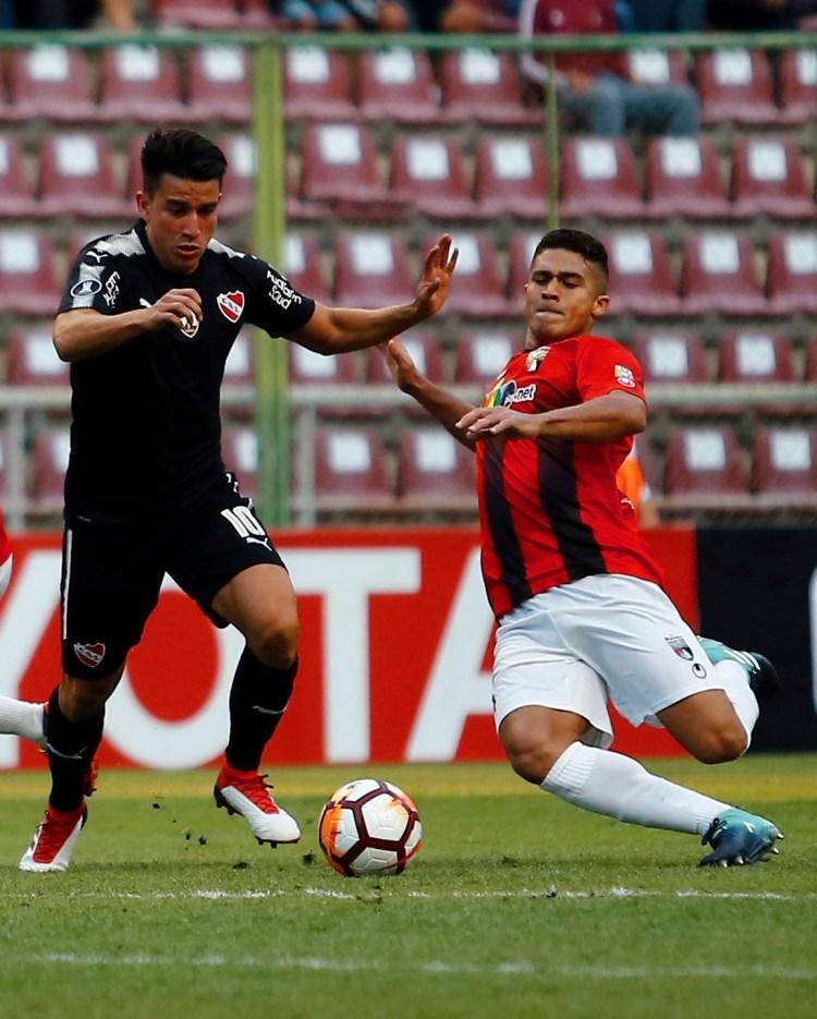 """El """"Rojo"""" cayó 1-0 con Lara en su debut por el grupo G (AP)"""