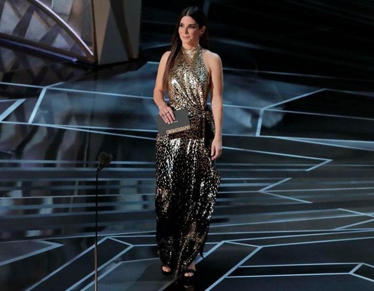 Sandra Bullock presentó uno de los premios