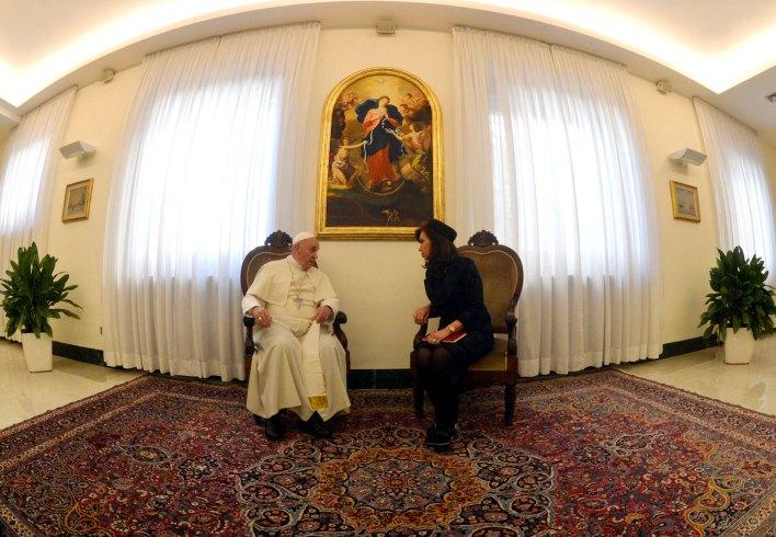 El papa Francisco y Cristina Kirchner