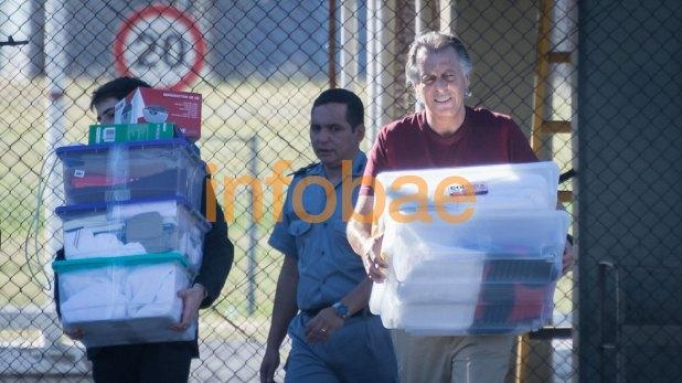 Cristóbal López cuando salió de la cárcel de Ezeiza (Martín Rosenzveig)
