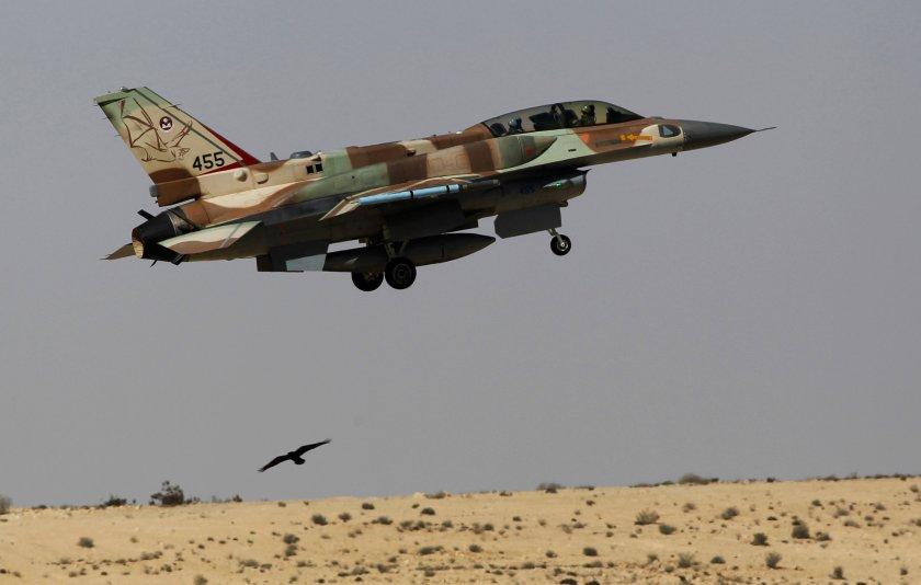 Un F-16 de la Fuerza Aérea de Israel (Reuters)