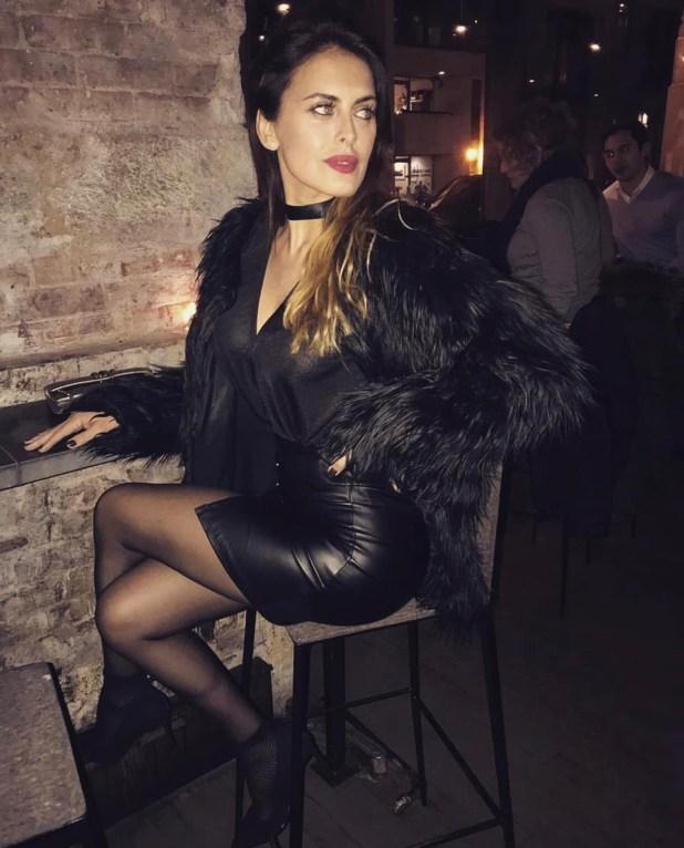 Silvina Luna en un resto de Nueva York, ABC Cocina (Foto Instagram)