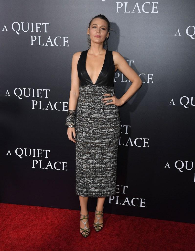 Blake Lively vestida con un a pieza elegante de la última colección de Chanel