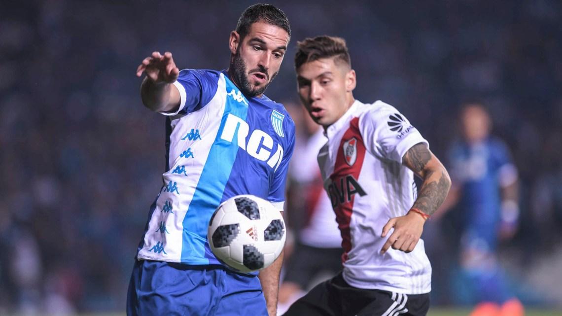 Buenos Aires:Racing recibe a River Plate en un encuentro válido por la 22da. fecha de la Superliga.Foto: Julián Alvarez/Télam/amb 0804/2018