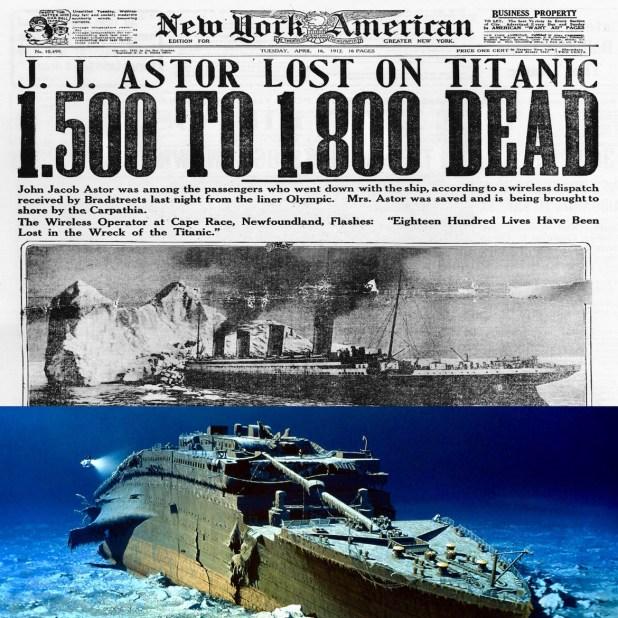 La cifra final de muertos tras el naufragio sería de 1.503, sobre un total de 2.224 personas a bordo
